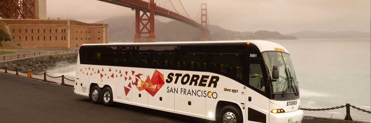 charter bus San Francisco Golden Gate Bridge
