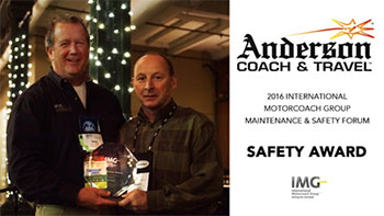 Doug Anderson, President Anderson Coach & Travel with IMG Chairman, Dennis Streif